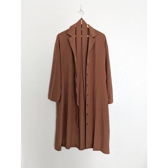 8074b7ada2 Brown Plain Long-Sleeve Shirt Dress size S. M 5c5c630c3c98449b45986cf5